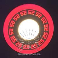 "LED панель Lemanso ""Грек"" 3+3W с красной подсв. 350Lm 4500K / LM533, фото 1"
