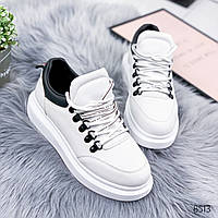 Кроссовки женские Alda белые+черный 8513