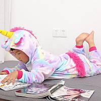 Детская пижама кигуруми единорог звезный