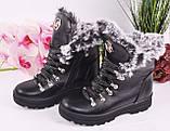Ботинки подростковые для девочки из натуральной кожи от производителя модель МАК1580, фото 4