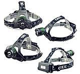Налобный фонарь POLICE BL-2188B 158000W, фото 3