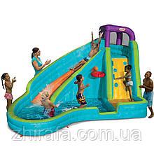 Little Tikes Надувний центр аквапарк з водними гірками Slam 'n Curve Slide