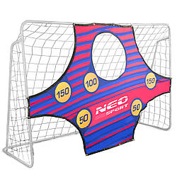 Футбольные ворота NS-452 245 x 155 x 80 cm с сеткой и экраном (9042)