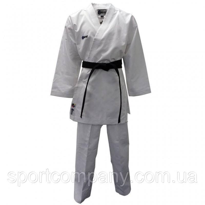 Кимоно для каратэ Smai Pro Fighter с лицензией WKF белое)