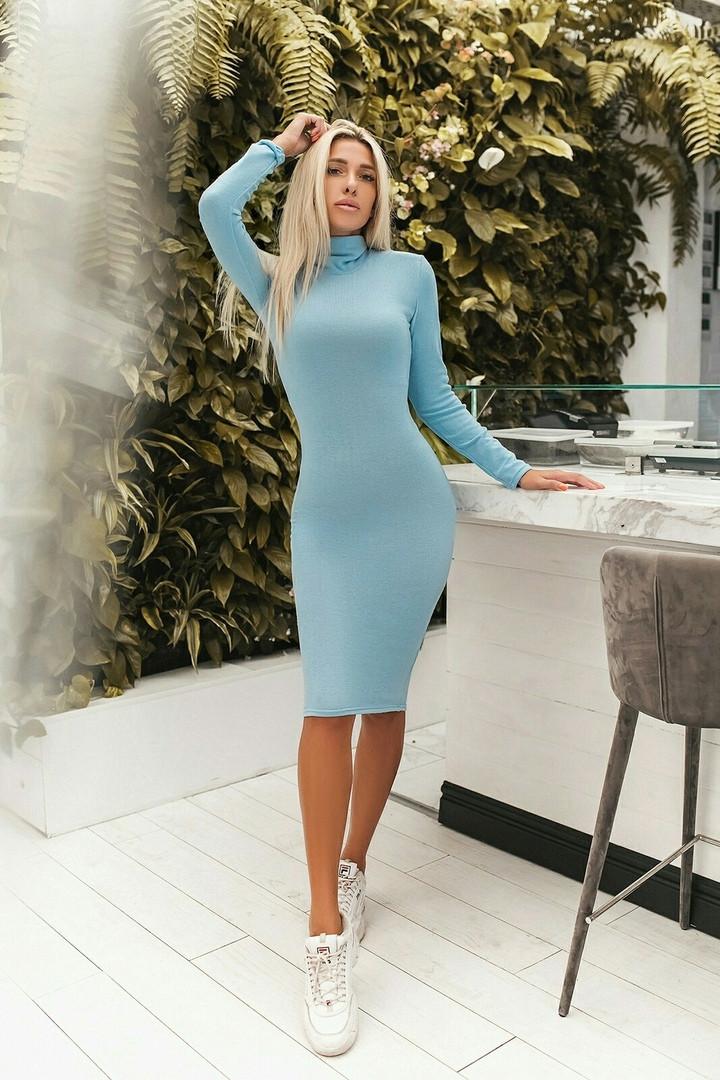 Женское зимнее платье - гольф  ВХ9257
