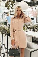 Женское модное платье - рубашка  ВХ9363, фото 1