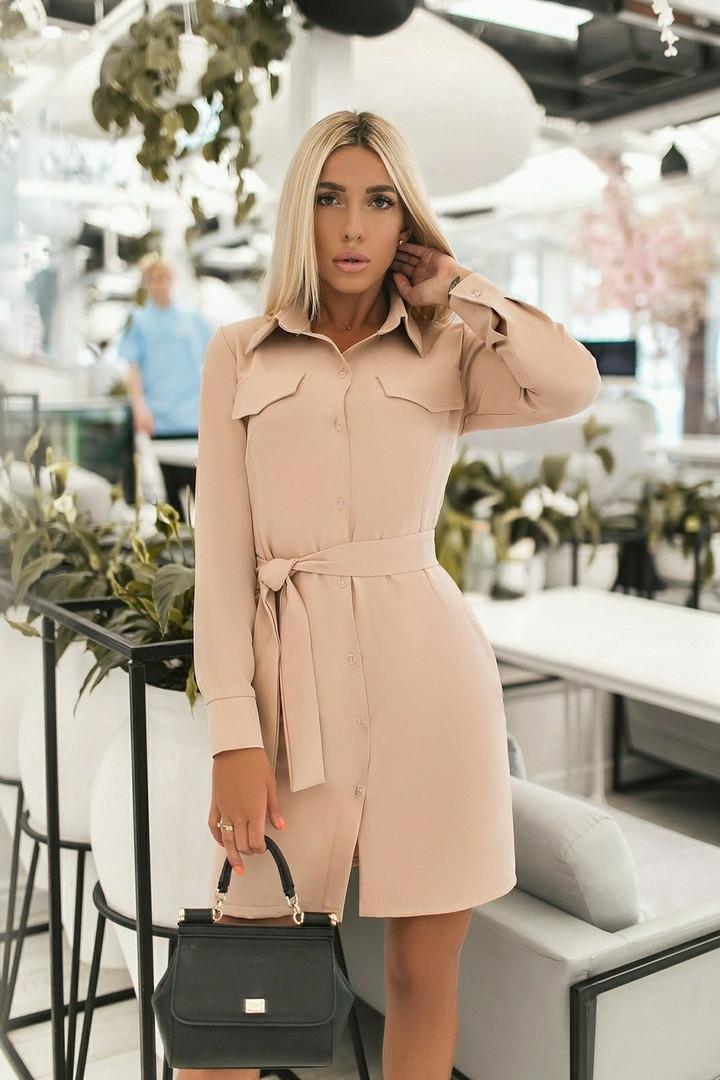 Женское модное платье - рубашка  ВХ9363