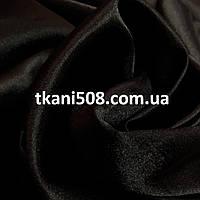Ткань Атлас Чёрный