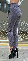 Вельветовые брюки с высокой талией в полоску