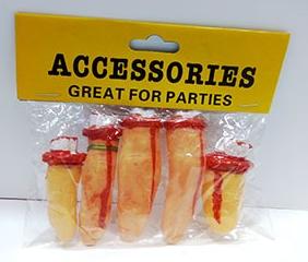 Окровавленные пальцы (декор на Хэллоуин)