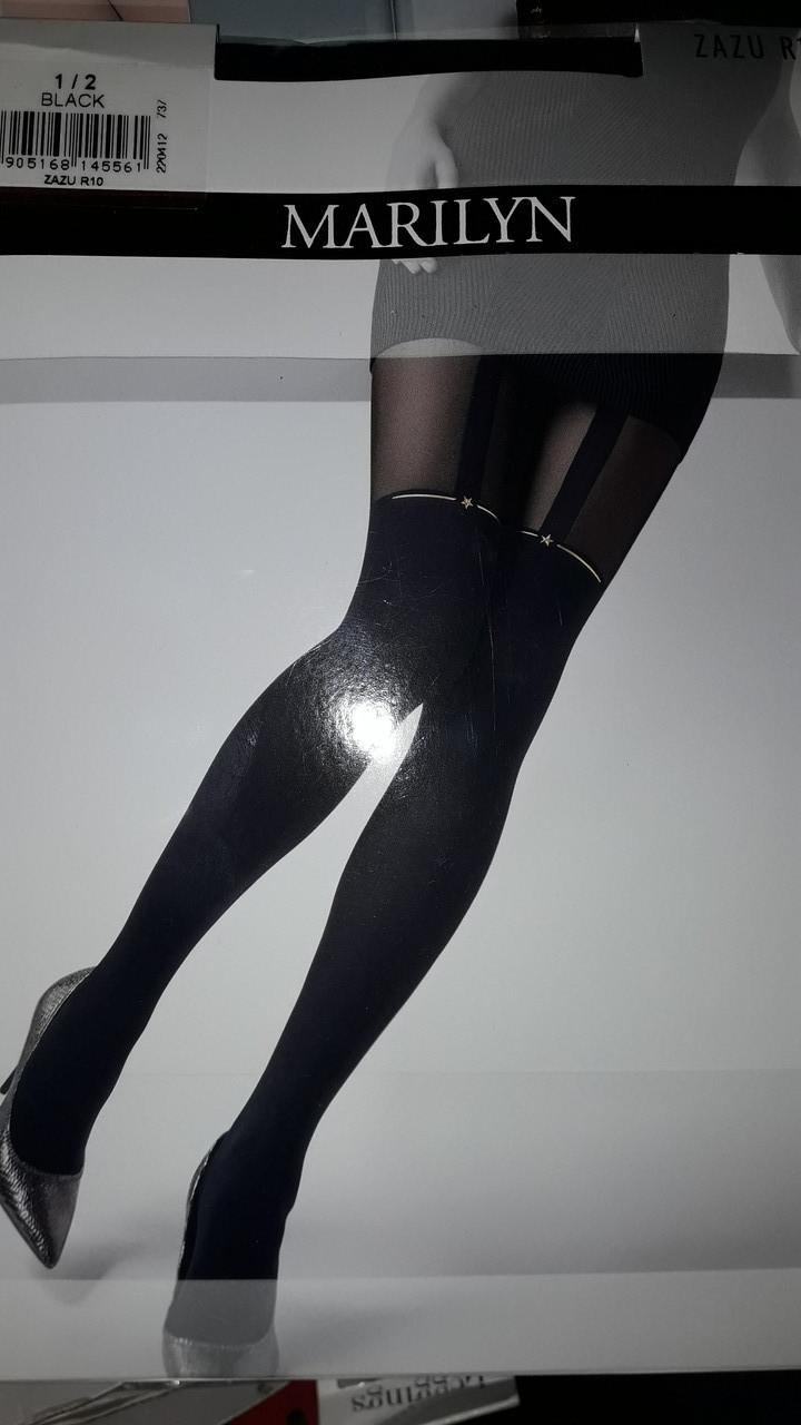 Фантазийные колготки женские Marilyn ZAZU R10 (имитация чулок)