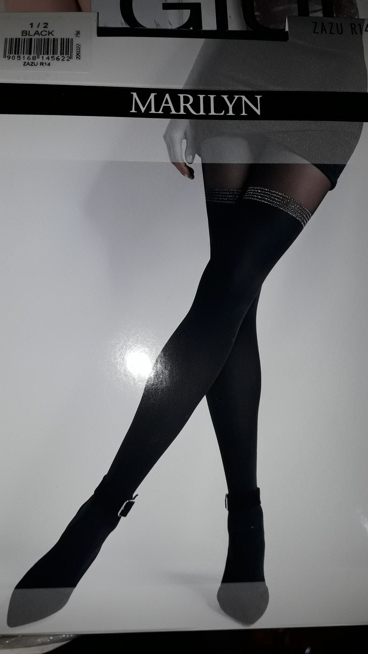 Фантазийные колготки женские Marilyn ZAZU R14 (имитация чулок)