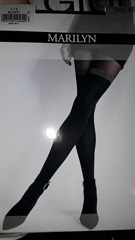 Фантазийные колготки женские Marilyn ZAZU R14 (имитация чулок), фото 2
