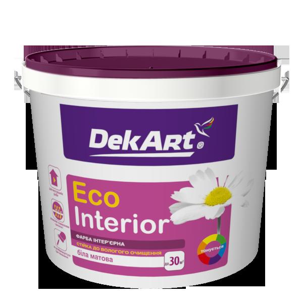 """Водно-дисперсионная краска для внутренних работ моющаяся TM """"DekART"""" Eko Interrior - 10 л. (12,0 кг.)"""