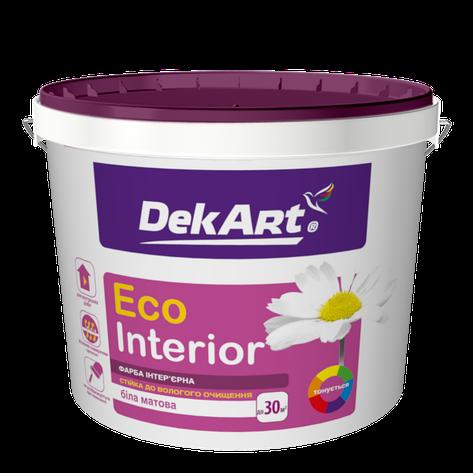 """Водно-дисперсионная краска для внутренних работ моющаяся TM """"DekART"""" Eko Interrior - 10 л. (12,0 кг.), фото 2"""