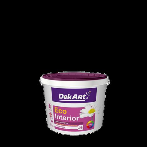 """Водно-дисперсионная краска для внутренних работ моющаяся TM """"DekART"""" Eko Interrior - 1,0 л., фото 2"""