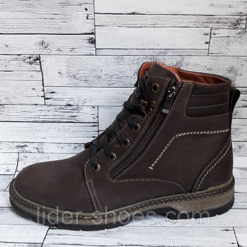 Мужские ботинки коричневого цвета