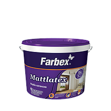 "Краска латексная ТМ ""Farbex"" Mattlatex - 7,0 кг."