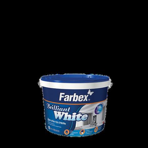 """Краска латексная белоснежная ТМ """"Farbex"""" Brilliant White - 1,4 кг., фото 2"""