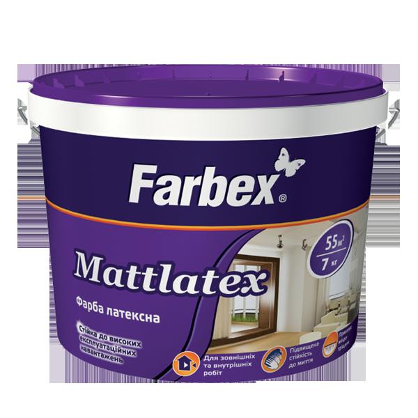 "Краска латексная ТМ ""Farbex"" Mattlatex - 14 кг."