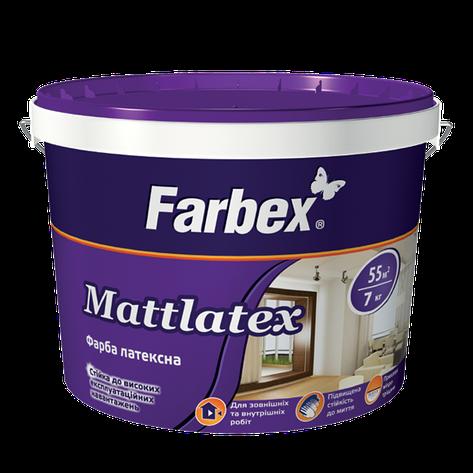 """Краска латексная ТМ """"Farbex"""" Mattlatex - 14 кг., фото 2"""