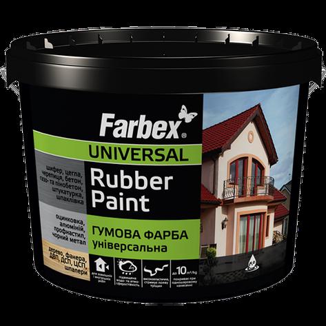 "Резиновая краска ТМ""FARBEX"" белая матовая - 12,0 кг, фото 2"