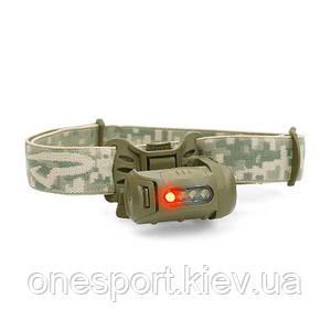 Ліхтар тактичний налобний Fred MPLS оливковий/червоний + сертификат на 100 грн в подарок (код 174-43795)
