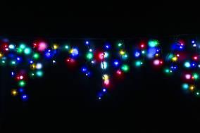 Гирлянда уличная LUMION бахрома 90LED 2x0,5m 230V цвет мульти, мерцает вся IP44 EN