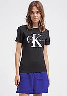 "Размер L Женская Футболка Calvin Klein Jeans  ( Черная, белая  ) """" ТОП Реплика """""