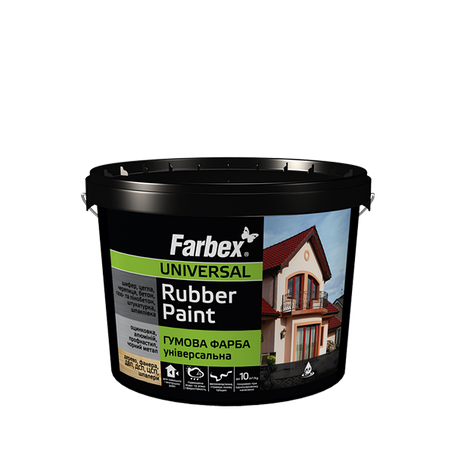 "Резиновая краска ТМ""FARBEX"" красно-коричневая матовая (RAL 3009) - 3,5 кг., фото 2"