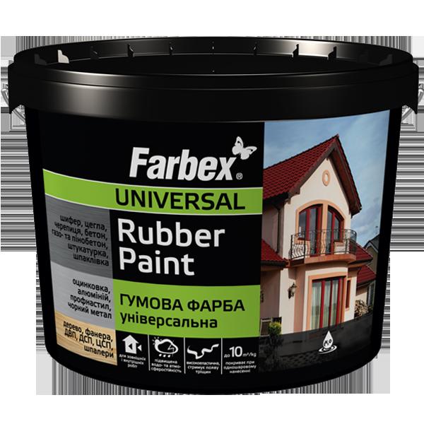 "Резиновая краска ТМ""FARBEX"" черная матовая (RAL 9004) - 12,0 кг."