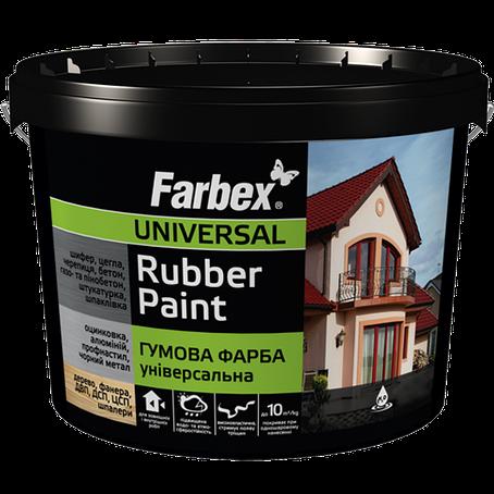 "Резиновая краска ТМ""FARBEX"" черная матовая (RAL 9004) - 12,0 кг., фото 2"