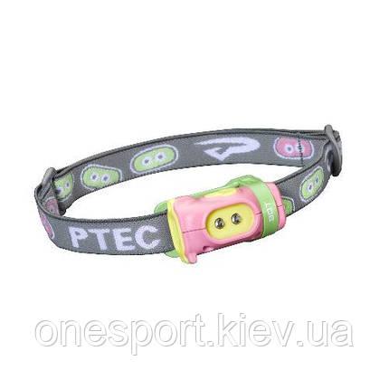 Ліхтар туристичний налобний Bot LED рожевий/зелений (код 174-43827), фото 2