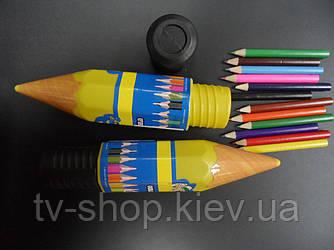 Пенал-карандаш малый +карандаши