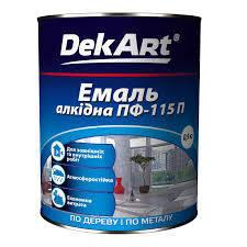 """Эмаль алкидная ПФ-115 TM """"DekArt"""" желтая - 0,9 кг., фото 2"""
