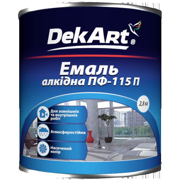 """Эмаль алкидная ПФ-115 TM """"DekArt"""" темно-серая - 2,8 кг."""
