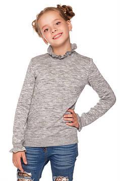 Детский свитер на девочку серый