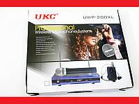 Радиосистема UKC UWP-200XL база 2 радиомикрофона, фото 1