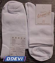 Чоловічі демісезонні шкарпетки Elegant Classic білі , 25,27,29 розмір