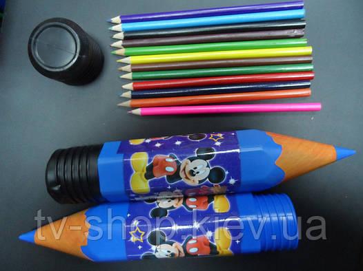 Пенал-карандаш большой+карандаши