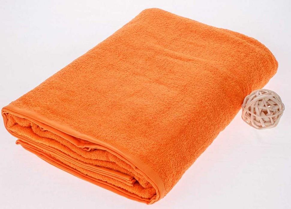 ТМ TAG Махровая простынь оранжевого цвета