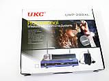 Радиосистема UKC UWP-200XL база 2 радиомикрофона, фото 6