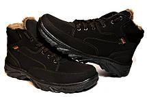 Мужские ботинки зимние эко-нубук утепленные, фото 3