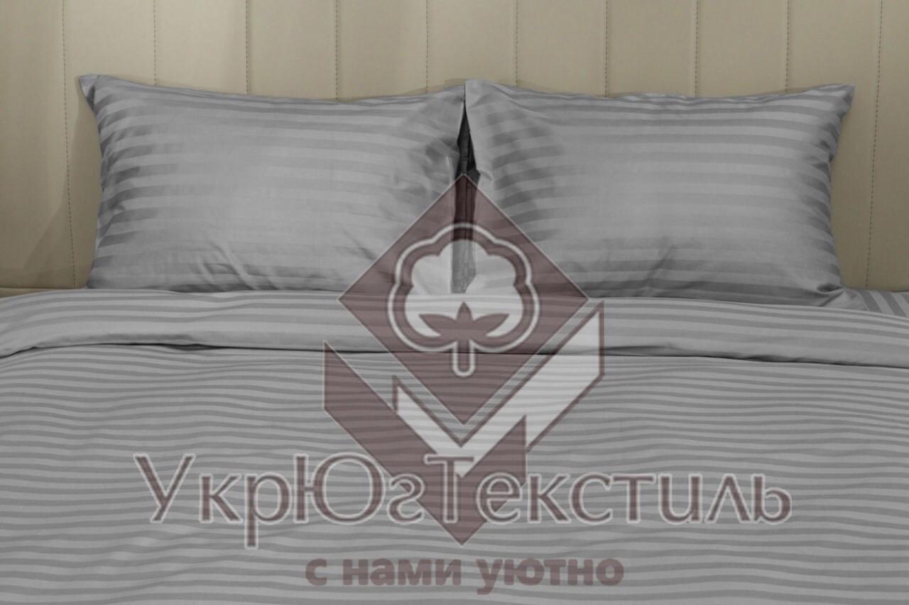 Постельное белье двуспальный страйп-сатин УкрЮгТекстиль графит