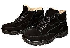 Ботинки мужские черные из Эко-нубука, фото 3