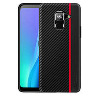 Чехол накладка Primo Cenmaso для Samsung Galaxy A8 2018 ( SM-A530 ) - Black&Red, фото 1