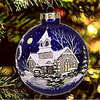 """Елочная игрушка из стекла """"Ночь перед Рождеством""""85 мм"""