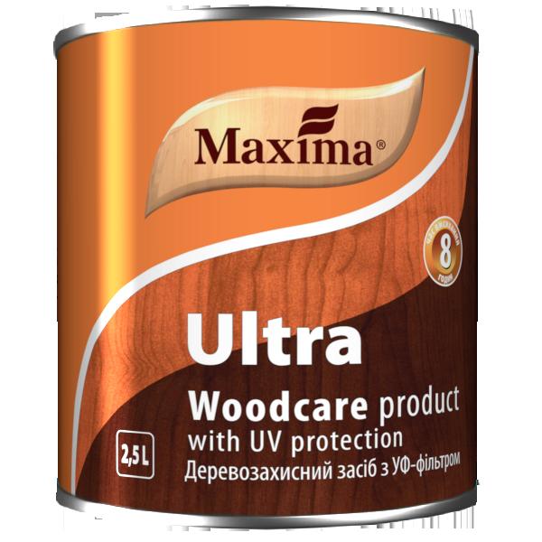 """Деревозащитное средство с УФ-фильтром TM """"Maxima"""" красное дерево - 2,5 л"""