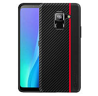 Чехол накладка Primo Cenmaso для Samsung Galaxy A8 Plus 2018 ( SM-A730 ) - Black&Red, фото 1