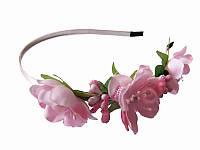Обруч Весенний цвет розовый (Украинские венки, обручи, заколки)